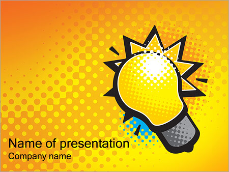 Electricity powerpoint template smiletemplates electric light powerpoint template toneelgroepblik Gallery