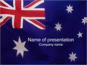 Drapeau australien Modèles des présentations  PowerPoint