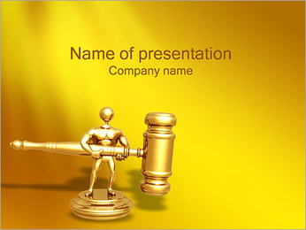Gold Statuette PowerPoint Template