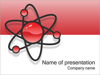 Atom Model PowerPoint šablony