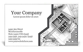 Building Planning Business Card Template