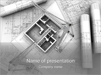 Byggnadsplanering PowerPoint presentationsmallar