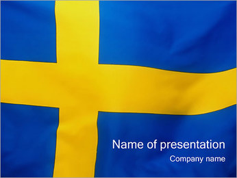 Swedish Flag PowerPoint Template