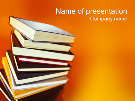 Books PowerPoint Template & Backgrounds ID 0000000422 ...