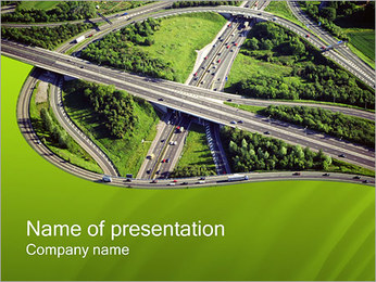 Highway PowerPoint Template
