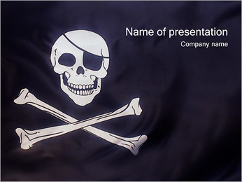 Pirates Flag PowerPoint Template