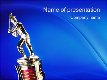 Baseball Statuette PowerPoint Template