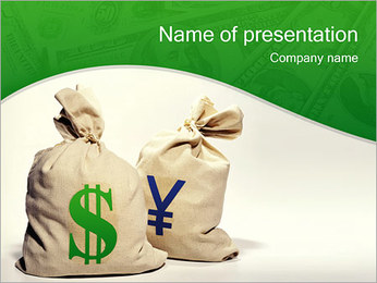 Dollars and Yen PowerPoint Template