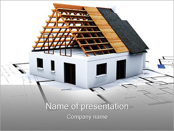House Building Planning I pattern delle presentazioni del PowerPoint