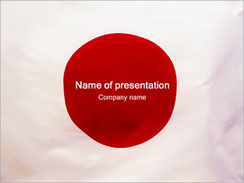 Japanese Flag PowerPoint Template