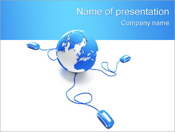 Global Connection PowerPoint Template - Slide 1