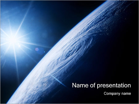 earth powerpoint template & backgrounds id 0000000439, Modern powerpoint