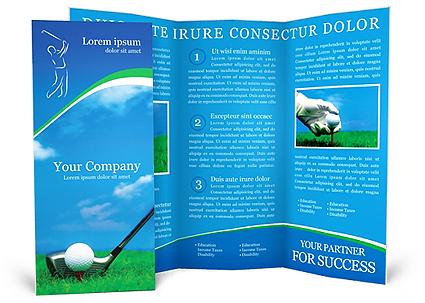 golf brochure template