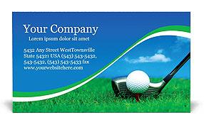 Golf business card template design id 0000000440 smiletemplates golf business card template colourmoves