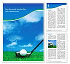 Golf Word Template