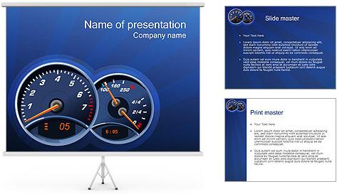 Tachometer PowerPoint Template