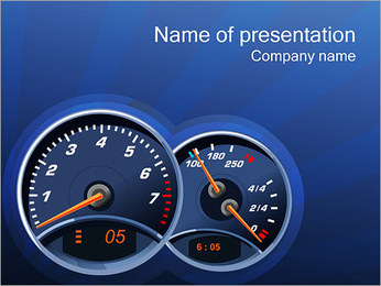 Tachometer PowerPoint Template - Slide 1