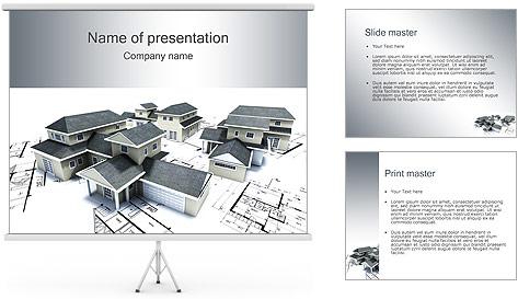 House Building Modelos de apresentações PowerPoint