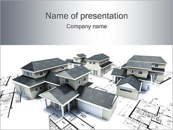 House Building Modelos de apresentações PowerPoint - Slide 1