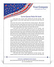Independence Day Letterhead Template