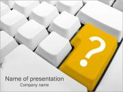 Znak zapytania Szablony prezentacji PowerPoint
