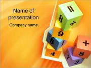 Bricks with Numbers PowerPoint Template