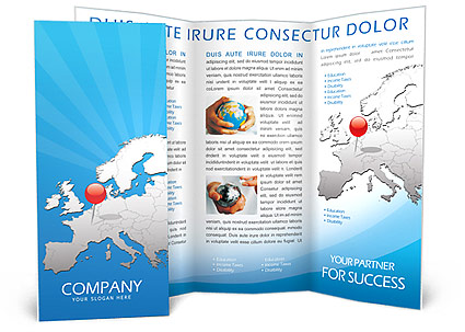 Travel to Europe Brochure Template Design ID 0000000461 – Tourism Brochure Template