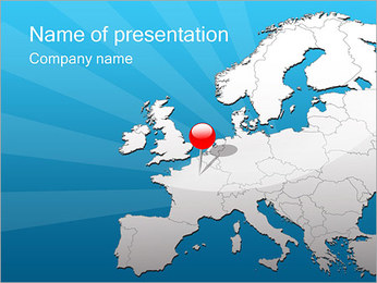 Travel to Europe PowerPoint Template