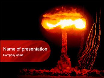 Bombardement atomique Modèles des présentations  PowerPoint