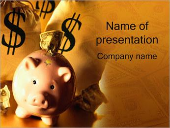 Spaargeld Sjablonen PowerPoint presentatie