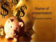 貯蓄 PowerPointプレゼンテーションのテンプレート