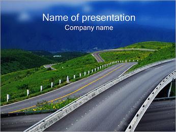 道路 PowerPointプレゼンテーションのテンプレート