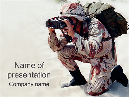 military powerpoint template & backgrounds id 0000000478, Modern powerpoint