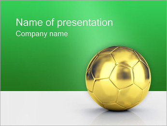 Gold Ball PowerPoint Template