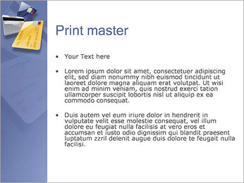 Tarjeta de Crédito Plantillas de Presentaciones PowerPoint