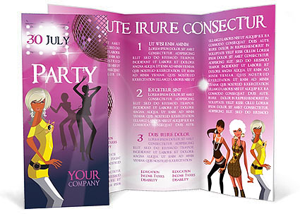 Prty Brochure | Party Brochure Template Design Id 0000000483 Smiletemplates Com