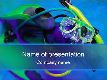 Pływanie pod wodą Szablony prezentacji PowerPoint
