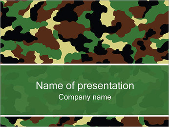 Army Texture PowerPoint Template