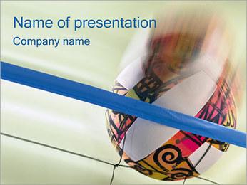 Volleyboll PowerPoint presentationsmallar