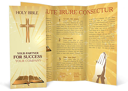 Holy Bible Brochure Template Design ID 0000000503 – Religious Brochure