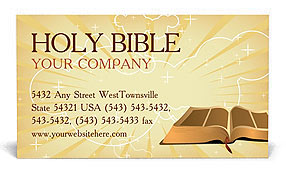 Holy Bible Business Card Templates