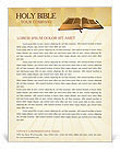 Holy Bible Letterhead Template