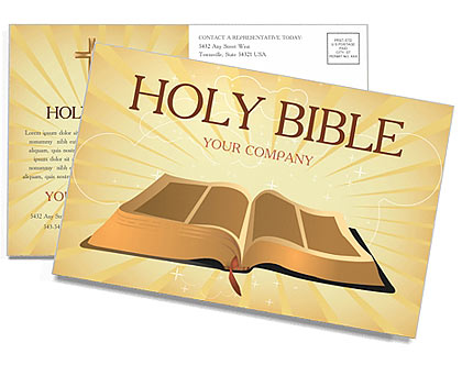 Holy Bible Postcard Template