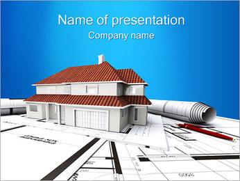 ハウスプランニング PowerPointプレゼンテーションのテンプレート