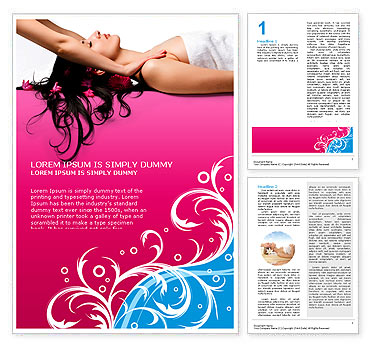 Massage Word Template & Design ID 0000000506 ...
