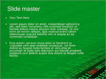 Dígitos Modelos de apresentações PowerPoint - Slide 2