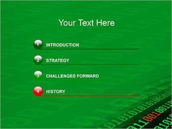 Dígitos Modelos de apresentações PowerPoint - Slide 3