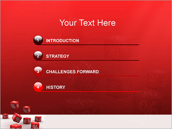 Percent PowerPoint Template - Slide 3