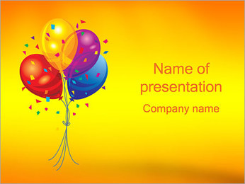 Balloons PowerPoint Template