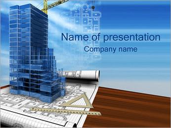 建築計画 PowerPointプレゼンテーションのテンプレート